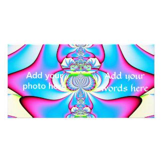 Pastel Tie Dye Angel Ascending Fractal Photo Card