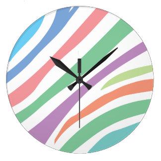 Pastel Tiger Print Large Clock