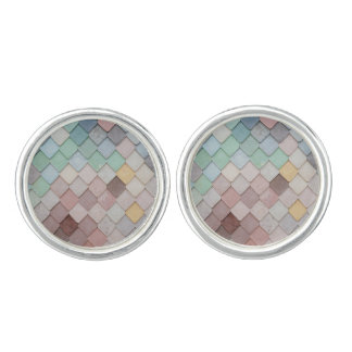 Pastel Tiles Cuff Links