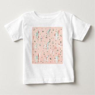 Pastel Tone Elephants Stars Pattern Baby T-Shirt