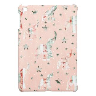 Pastel Tone Elephants Stars Pattern Case For The iPad Mini