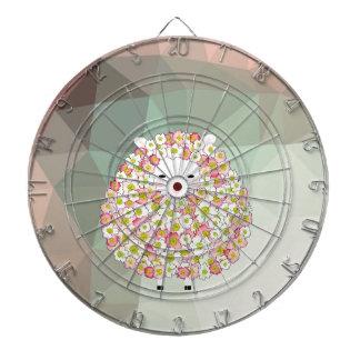 Pastel Tone Flowery Sheep Design Dartboard