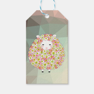 Pastel Tone Flowery Sheep Design Gift Tags
