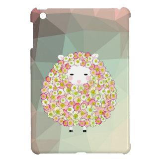 Pastel Tone Flowery Sheep Design iPad Mini Covers