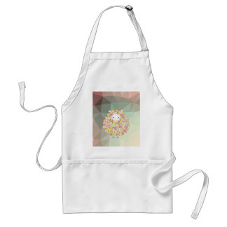 Pastel Tone Flowery Sheep Design Standard Apron