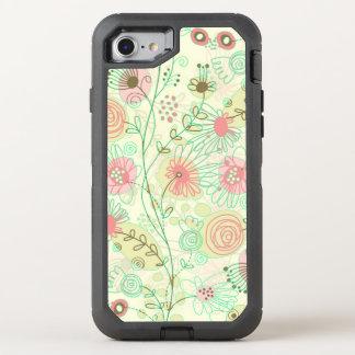 Pastel Tones Cute Cartoon Flowers OtterBox Defender iPhone 8/7 Case