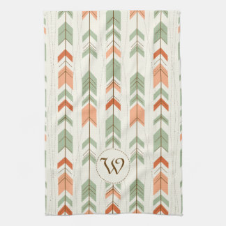 Pastel Tones Tribal Arrows Seamless Pattern Towel