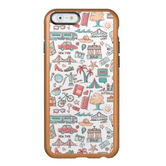 Pastel Tourist Pattern Incipio Feather® Shine iPhone 6 Case