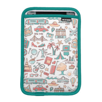 Pastel Tourist Pattern iPad Mini Sleeve