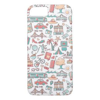 Pastel Tourist Pattern iPhone 8/7 Case