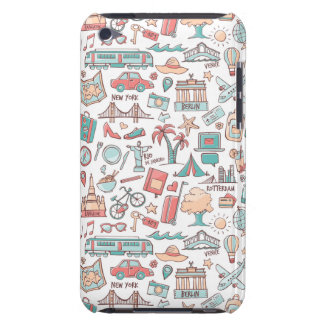 Pastel Tourist Pattern iPod Touch Cover