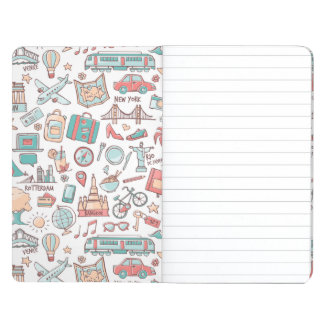Pastel Tourist Pattern Journal