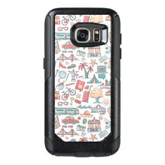 Pastel Tourist Pattern OtterBox Samsung Galaxy S7 Case
