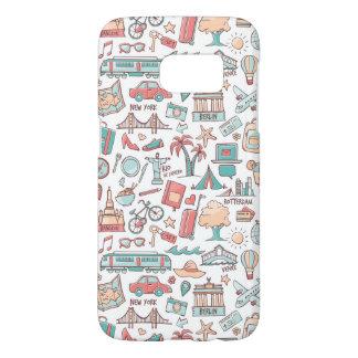 Pastel Tourist Pattern Samsung Galaxy S7 Case