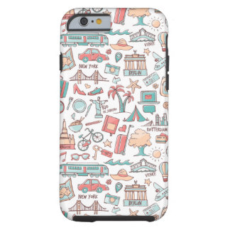 Pastel Tourist Pattern Tough iPhone 6 Case