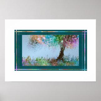 Pastel Tree with slight Breeze Poster