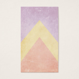 Pastel triangle pattern business card