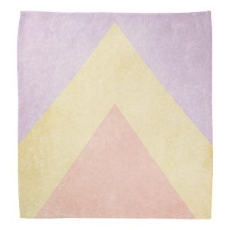 Pastel triangle pattern head kerchiefs