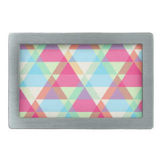 Pastel triangles belt buckle