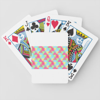 Pastel triangles bicycle playing cards