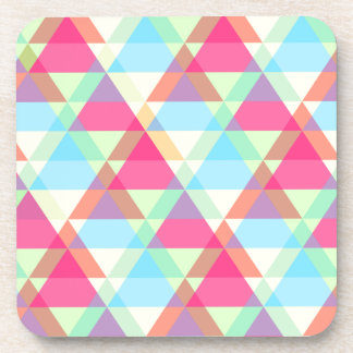 Pastel triangles coaster