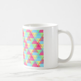 Pastel triangles coffee mug