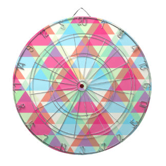 Pastel triangles dartboard