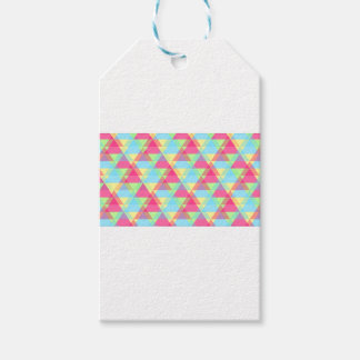 Pastel triangles gift tags