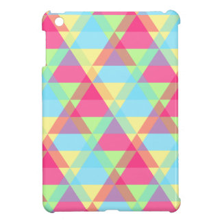 Pastel triangles iPad mini covers