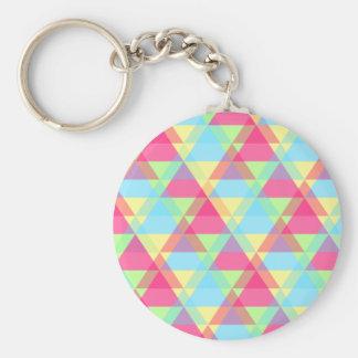 Pastel triangles keychain