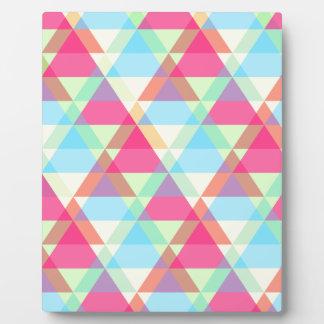 Pastel triangles plaque