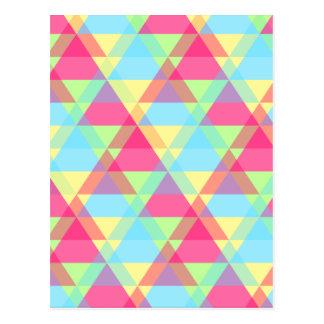 Pastel triangles postcard