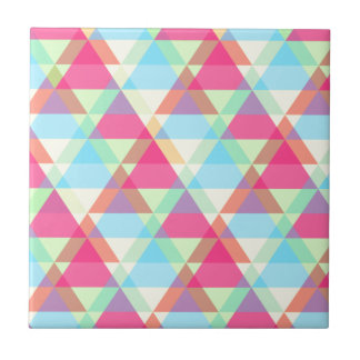 Pastel triangles tile