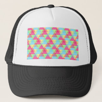 Pastel triangles trucker hat