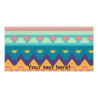 Pastel tribal design card