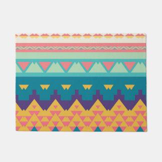 Pastel tribal design doormat