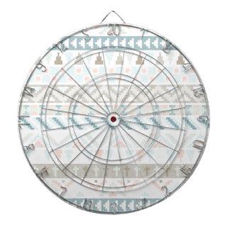 Pastel Tribal Pattern Dart Board