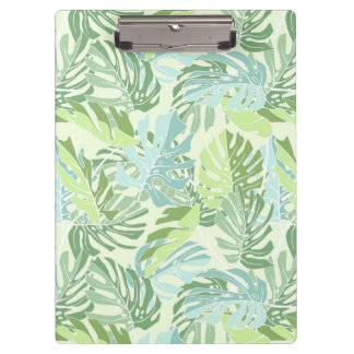 Pastel Tropical Palm Leaves Clipboard