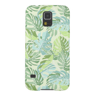 Pastel Tropical Palm Leaves Galaxy S5 Cases