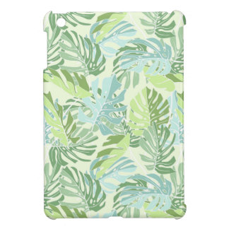 Pastel Tropical Palm Leaves iPad Mini Cover