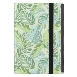 Pastel Tropical Palm Leaves iPad Mini Covers