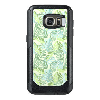 Pastel Tropical Palm Leaves OtterBox Samsung Galaxy S7 Case