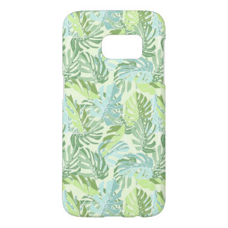 Pastel Tropical Palm Leaves Samsung Galaxy S7 Case