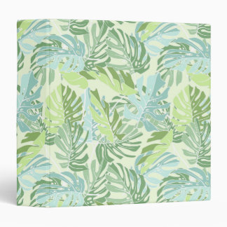 Pastel Tropical Palm Leaves Vinyl Binders