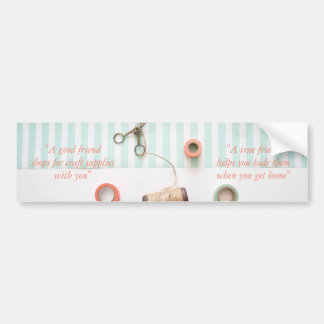 Pastel True Friend Craft Theme Bumper Sticker