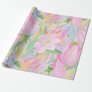 Pastel tulip wrapping paper