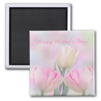 Pastel tulips and custom text magnet