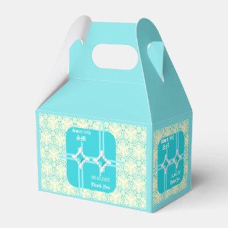 Pastel Turqouise Sweet 16th Gable Favor Box 2
