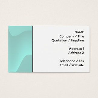 Pastel Turquoise Abstract Swirl Image. Business Card
