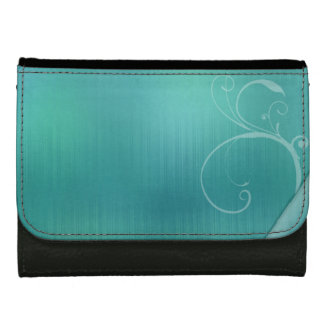 Pastel turquoise design wallets